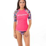 TROPICAL GLITCH SHORT SLEEVES RASH VEST