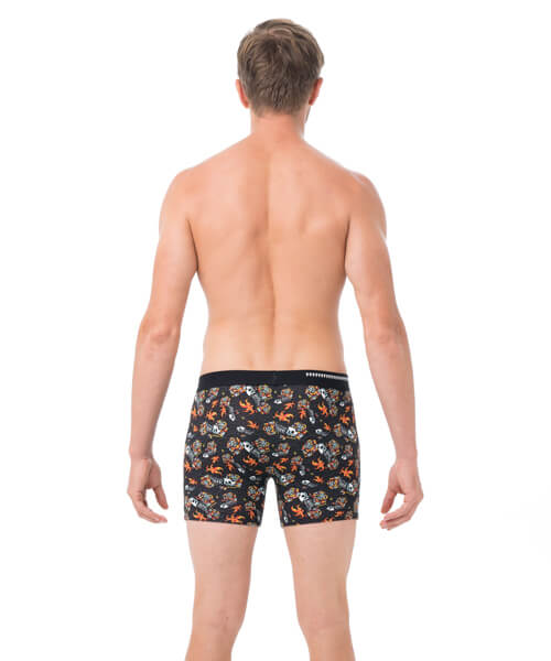 FISH SKULL BAMBOO FITTED FIT BOXER