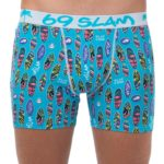 SURFBOARD BLUE BAMBOO FITTED FIT BOXER