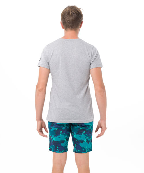 SKULLNAMENT GREY BE DIFFERENT COLLECTION SHORT SLEEVES T-SHIRT