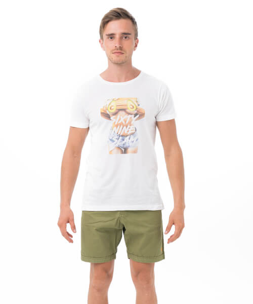 AVOCABOO WHITE DNA COLLECTION SHORT SLEEVES T-SHIRT