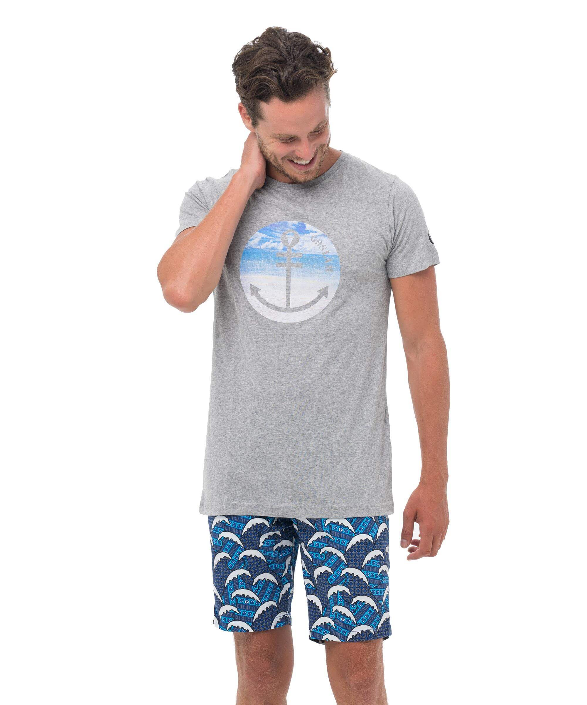 BEACH ANCHOR GREY DNA COLLECTION SHORT SLEEVES T-SHIRT