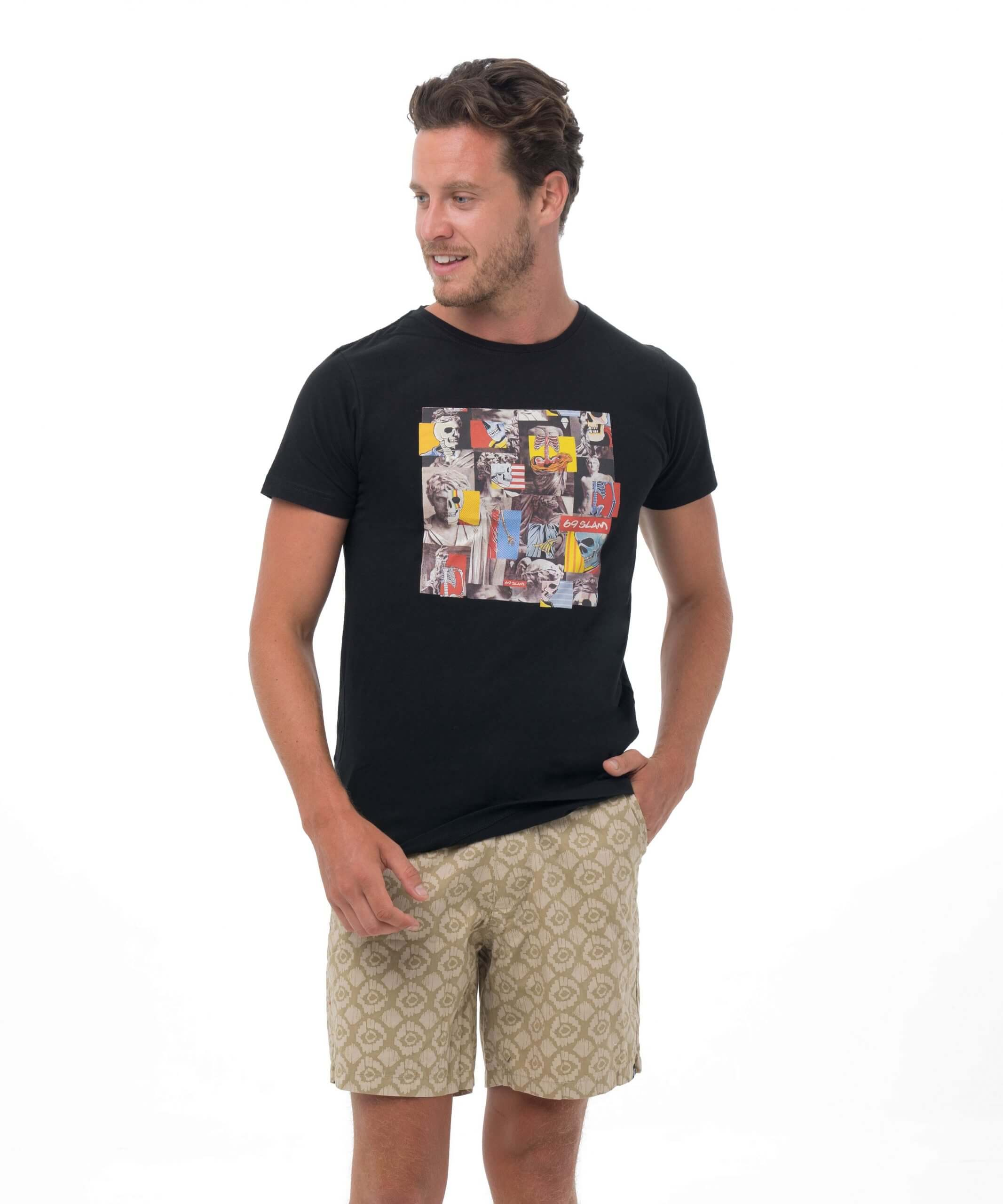 SKULLAGE BLACK BE DIFFERENT COLLECTION SHORT SLEEVES T-SHIRT