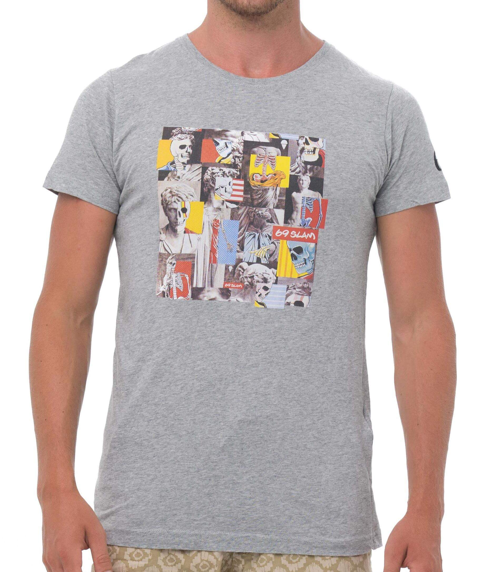 SKULLAGE GREY BE DIFFERENT COLLECTION SHORT SLEEVES T-SHIRT