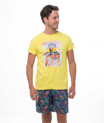 MONOBABE YELLOW BE DIFFERENT COLLECTION SHORT SLEEVES T-SHIRT