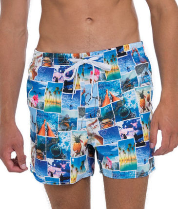 INTO THE BLUE ELASTIC WAIST BOARDSHORT