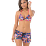 TROPICAL GLITCH 4WAYS STRETCH BOARDSHORT