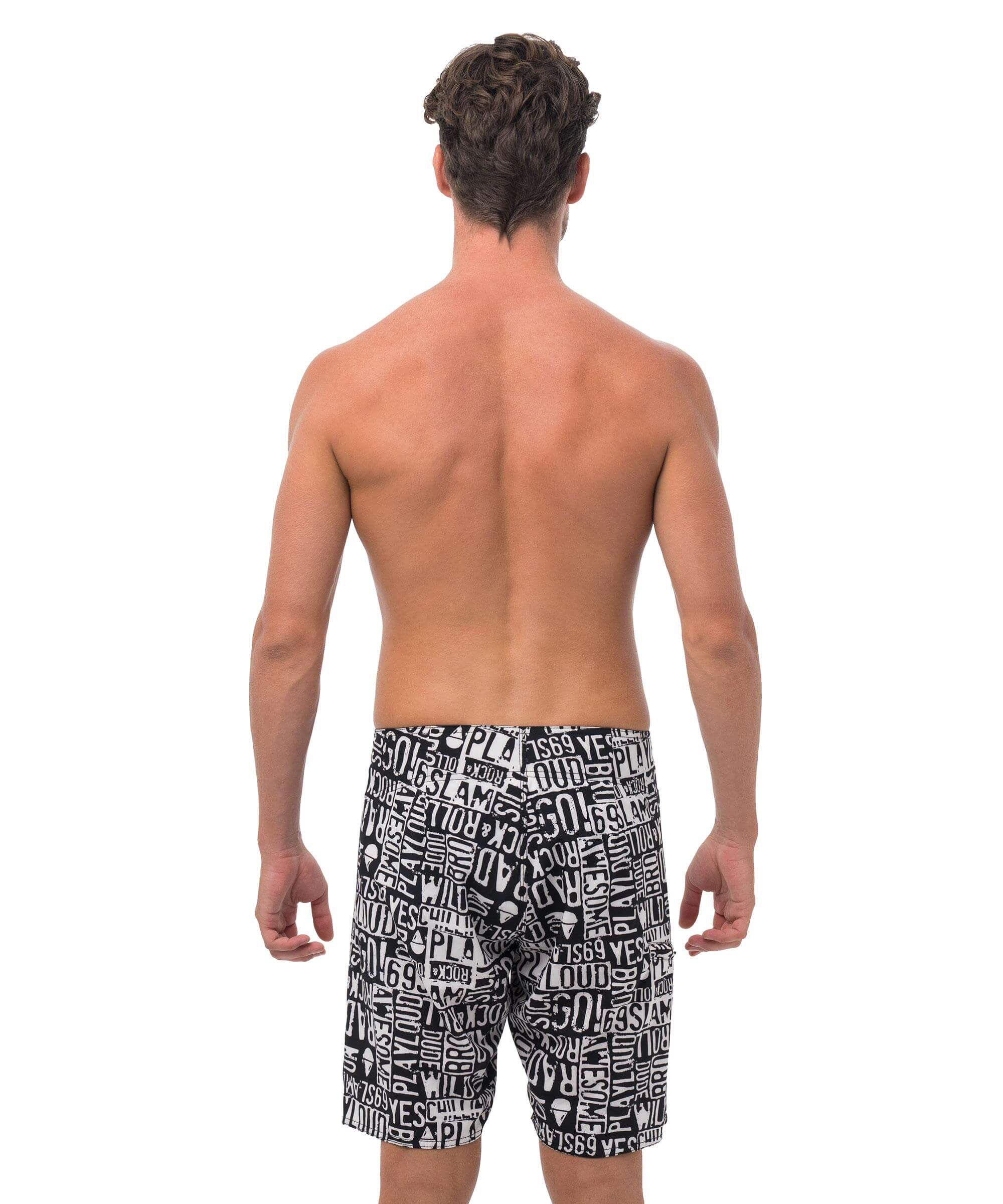 EMO BLACK 4WAYS STRETCH BOARDSHORT