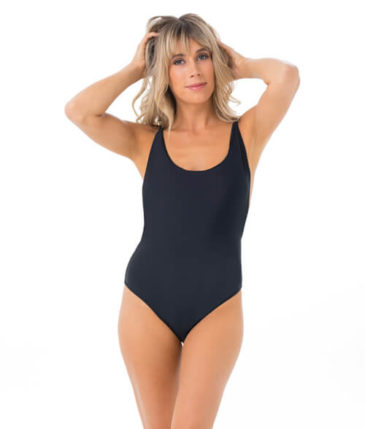 PLAIN BLACK PAMELA ONE PIECE