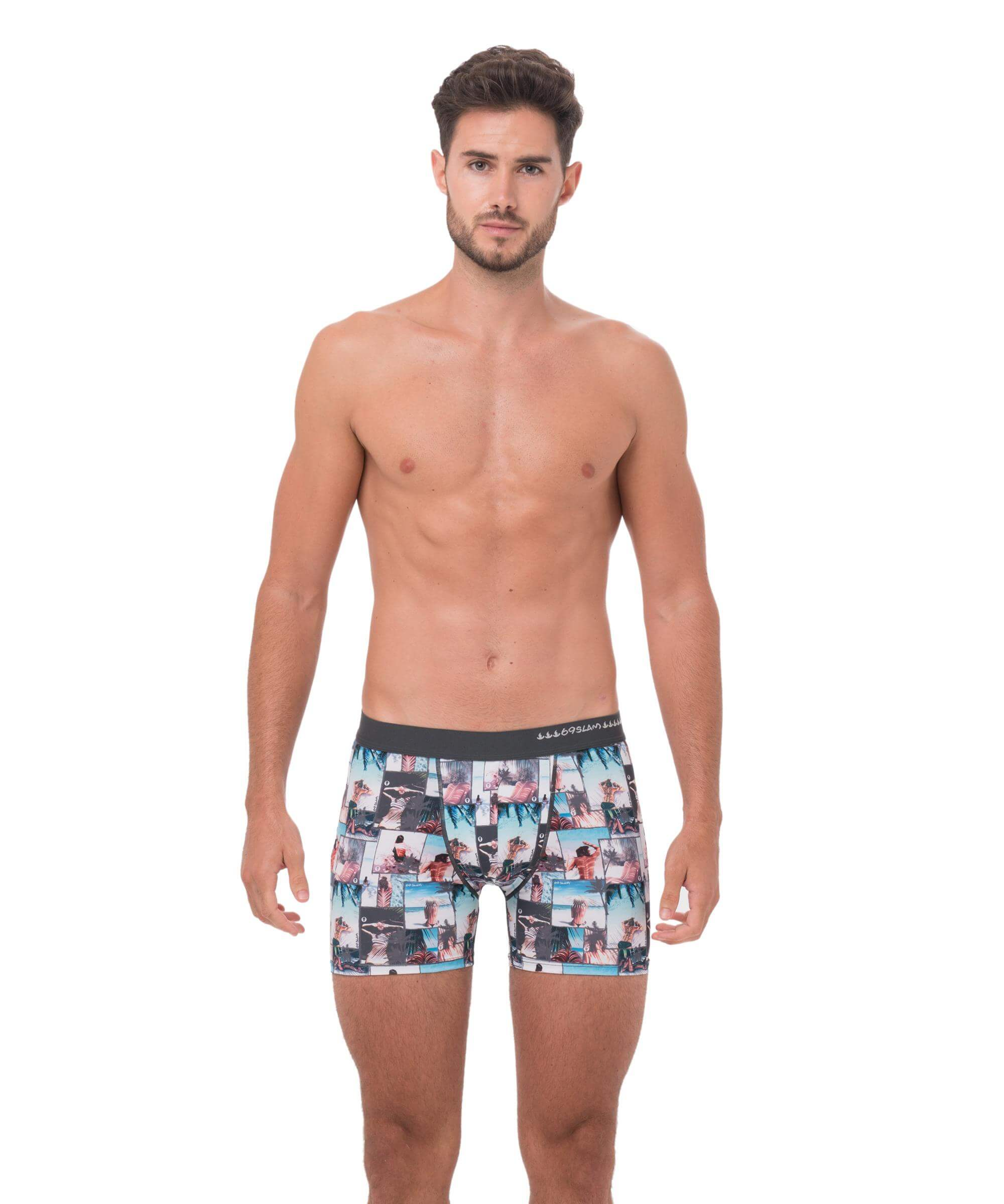 UNDER THE PALM FITTED FIT BOXER