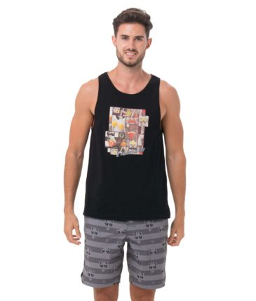 BE FRUITY BLACK SINGLET