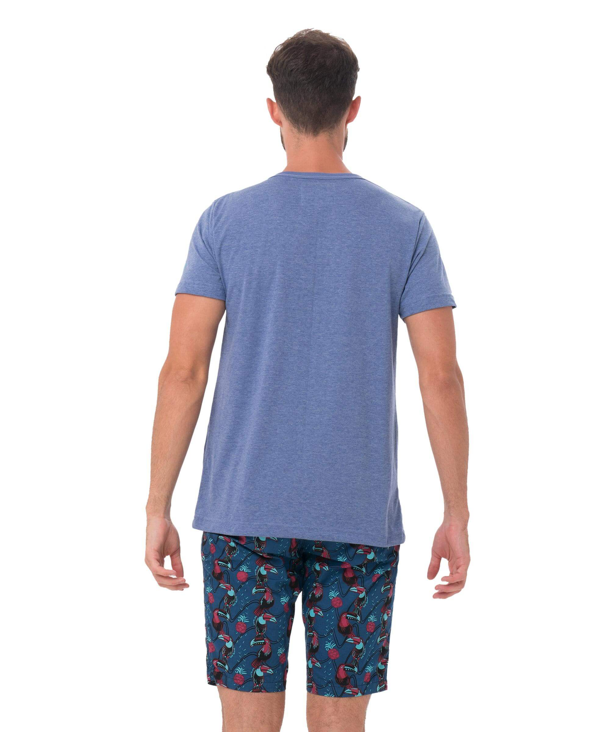 PINE SKULL BLUE BE DIFFERENT COLLECTION SHORT SLEEVES T-SHIRT