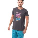 VACAY-GO! BLACK MELANGE BE DIFFERENT COLLECTION SHORT SLEEVES T-SHIRT