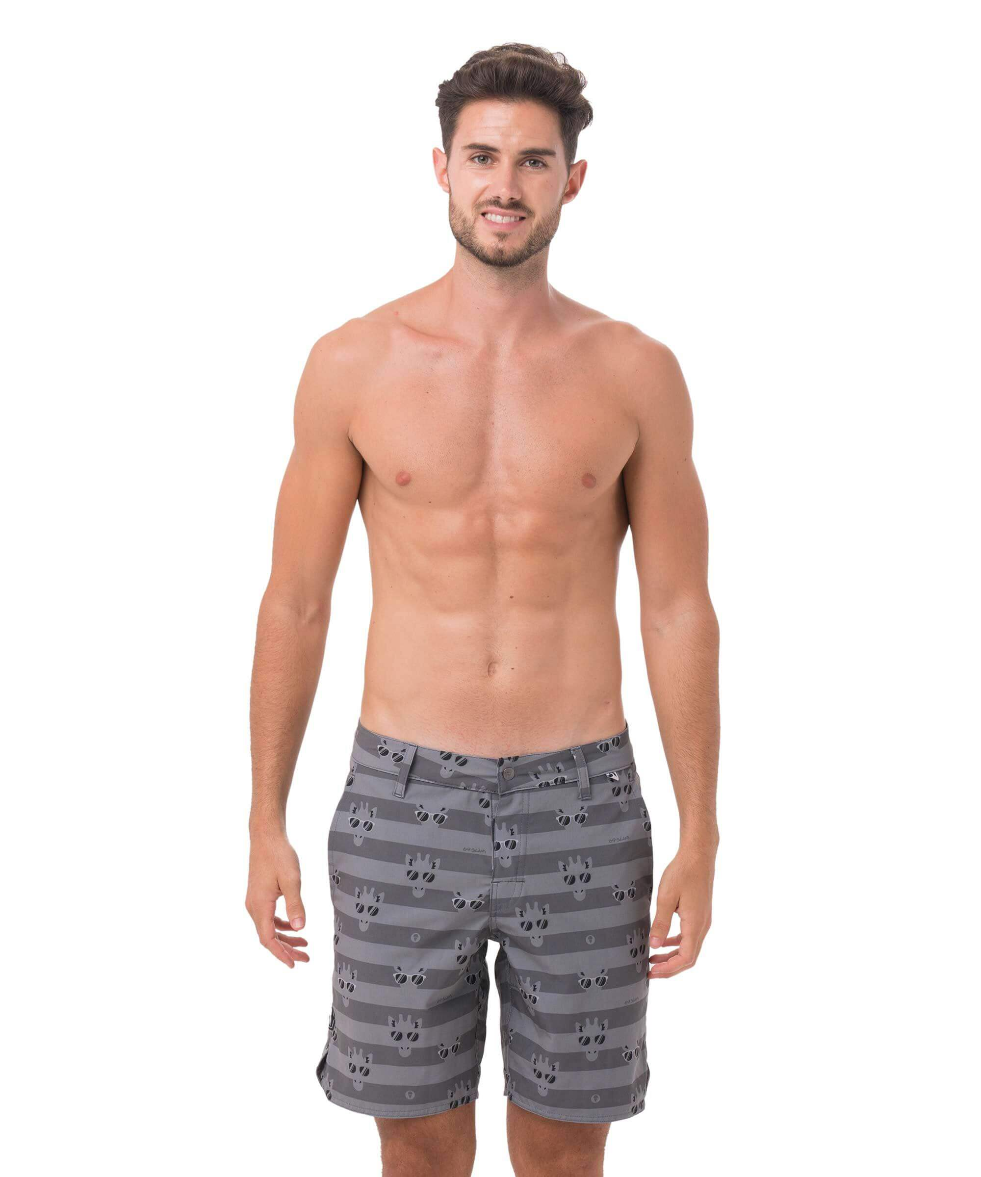 GIRAFFE STRIPES GREY DIMITRI WALKSHORTS
