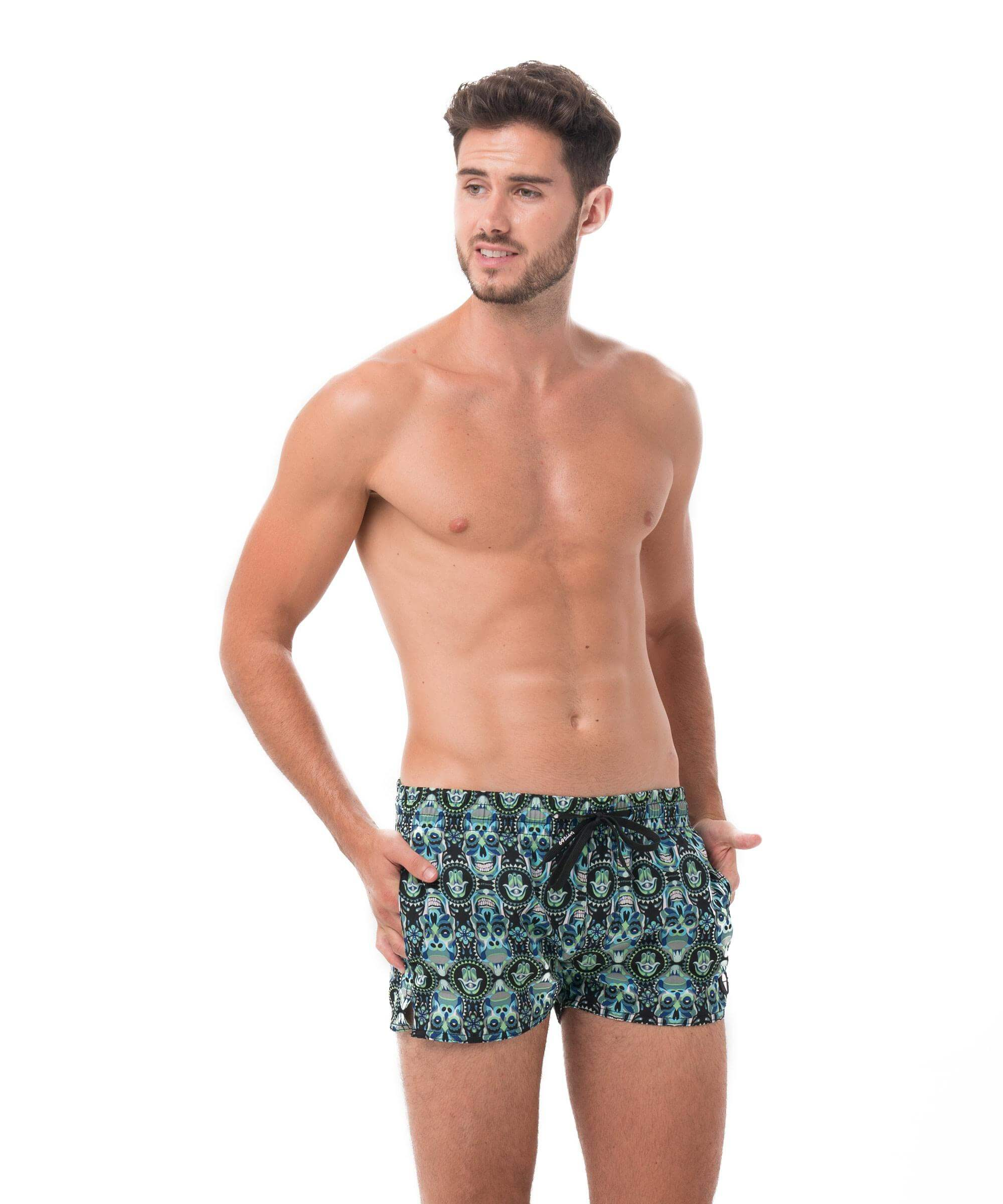 SKULL KONG VOLLEY SHORTS 4WAYS