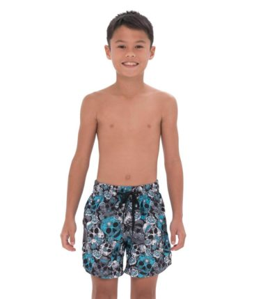 BOYS MINT SUGAR CRANE JAX BOARDSHORT ELASTIC WAIST