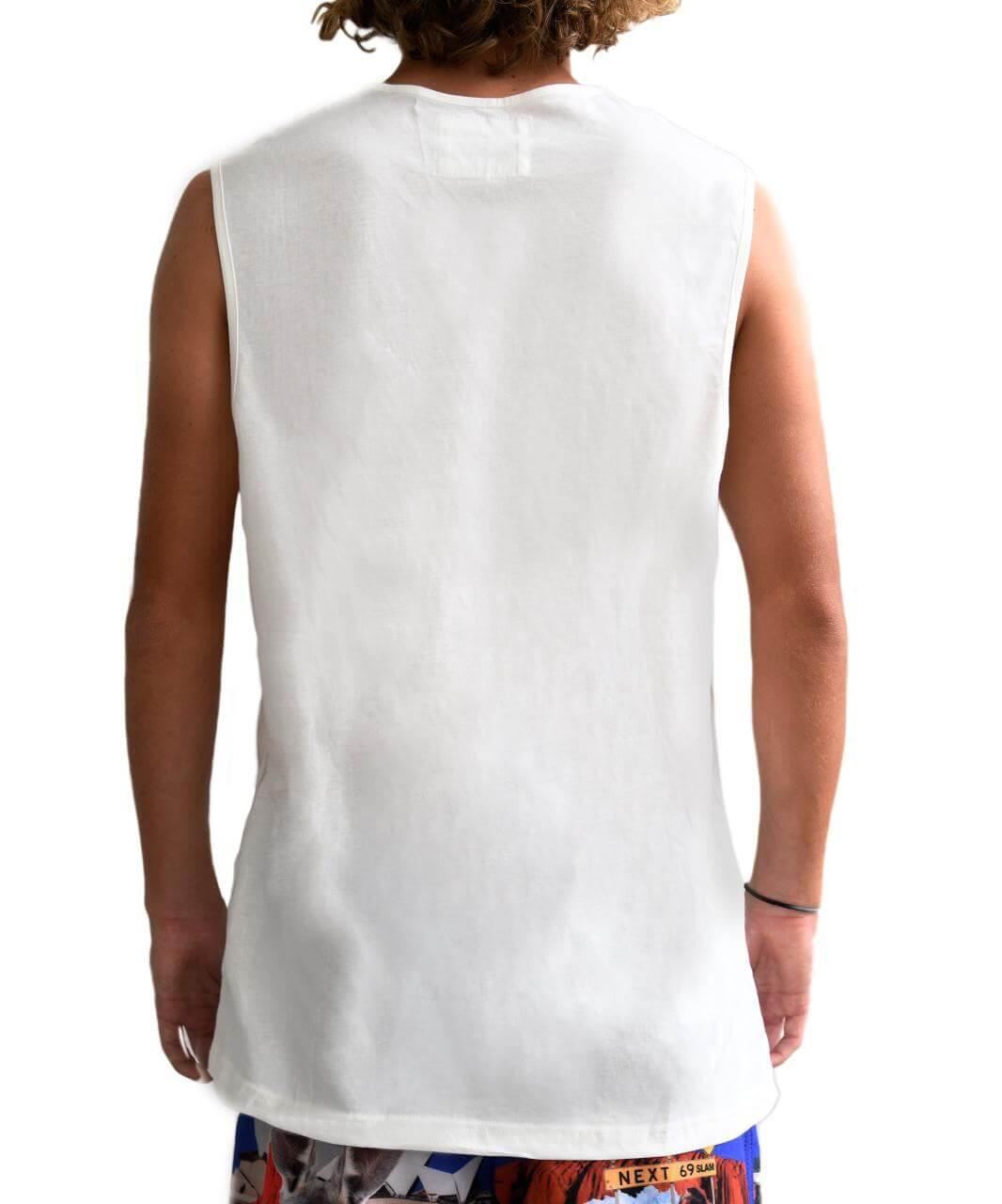 HELLO OZ LOOSE FIT SINGLET WHITE